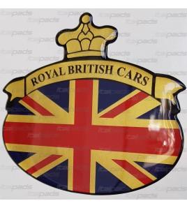 Pegatina Union Jack Royal British bandera Range Rover dorado