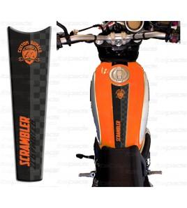 Protector De Depòsito naranja adecuado para Ducati Scrambler