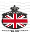 Union Jack Royal British bandera pegatina Range Rover negro 76x68