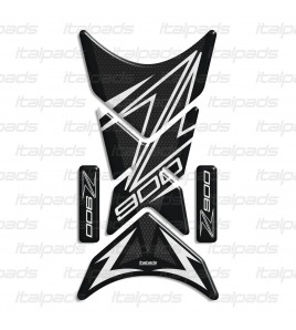 "Protector De Depòsito mod. ""Shark"" para Kawasaki Z900, Panal/blanco"