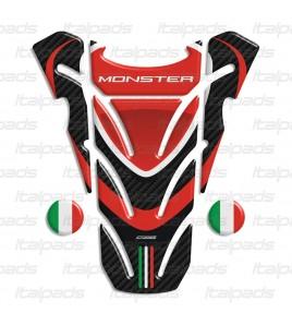 """Protector De Depòsito adecuado para Ducati Monster """"Top Wings"""" carbono + 2 Gratis!!"""