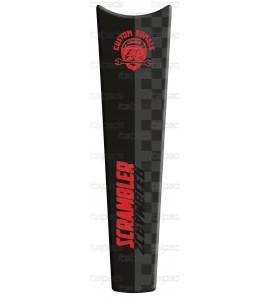 Protector De Depòsito tonos rojos adecuado para Ducati Scrambler