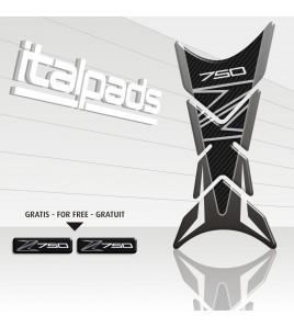 "Protector De Depòsito mod. ""Shark"" para Kawasaki Z750 tonos grises"