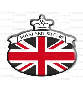 Union Jack Royal British bandera pegatina Range Rover negro/rojo