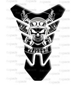 """Protector De Depòsito Tank Pad cráneo """"Nevada"""" negro"""