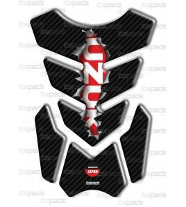 """Protector De Depòsito mod. """"3Wings Rip"""" para Suzuki  efecto carbono/rojo"""