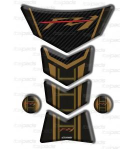 """Protector De Depòsito por Yamaha FZ1 oro-efecto carbono """"Frames/S"""""""