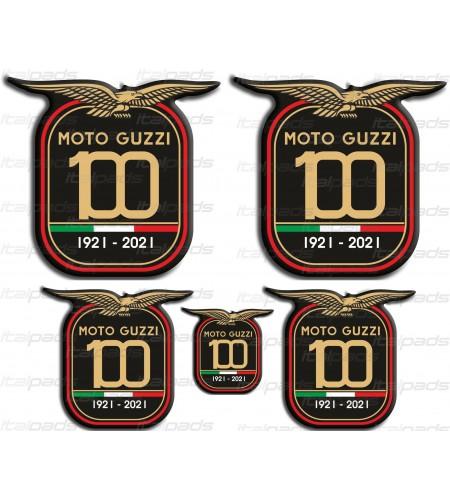 Pegatinas decorativas en resina Centenario Aniversario Moto Guzzi