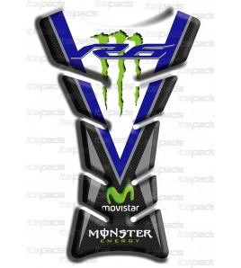 "Protector De Depòsito ""Clásico Sport"" azul carbon look para Yamaha R6"