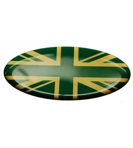 Union Jack Royal British bandera pegatina  Range Rover OVAL verde dorado
