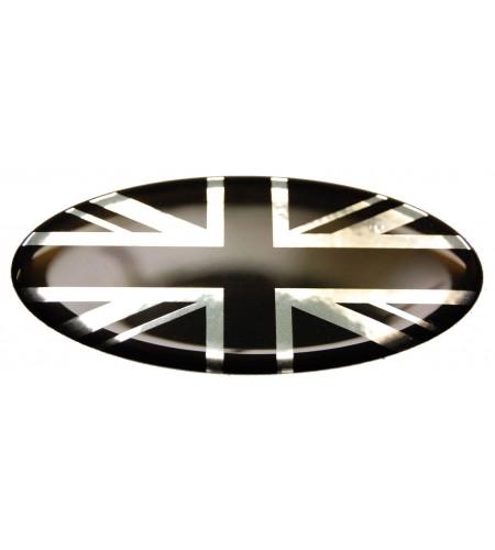 Union Jack Royal British bandera pegatina Range Rover OVAL 100% negro cromo