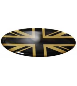 Union Jack Royal British bandera pegatina Range Rover OVAL english negro dorado