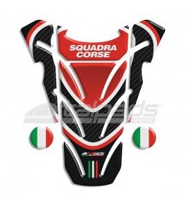 """Protector De Depòsito adecuado para Ducati Monster """"Top Wings"""" negro/carbono + 2 Gratis!!"""