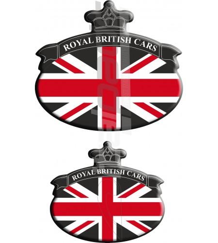 Set 2 Pegatinas Union Jack Royal British bandera Range Rover negro
