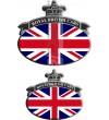 Set 2 Pegatinas Union Jack Royal British bandera Range Rover negro/gris