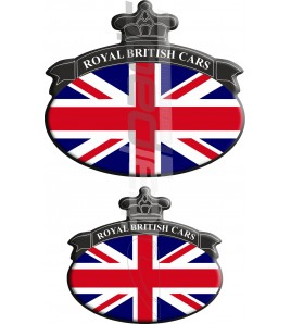 Set 2 Pegatinas Union Jack Royal British bandera Range Rover negro/azul