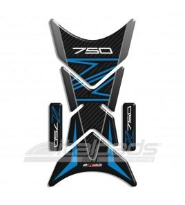 """Protector De Depòsito para Kawasaki Z750 azul/celeste mod. """"Shark""""+2 Gratis"""
