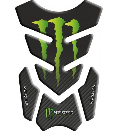 Protector De Depòsito Monster Negro/efecto carbono matizado