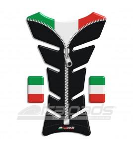 "Protector De Depòsito Bandera Italiana Italia negro ZIP ""Classic""+2"