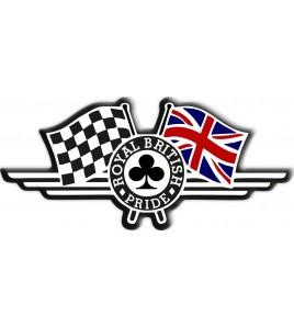 "Union Jack bandera pegatina ""Royal British Pride"" Triumph"