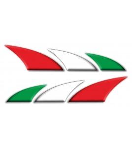 Kit 2 pegatinas decorativas Italia Bandera italiana para coches moto