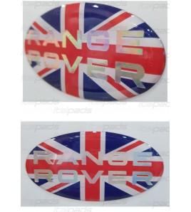 British bandera pegatina Range Rover texto nacarado de cromo